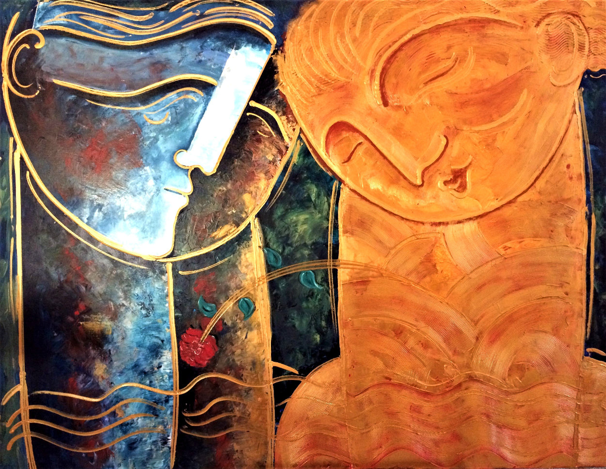 Rose 2019 48x60 Super Huge Original Painting by Gaylord Soli  (Gaylord)