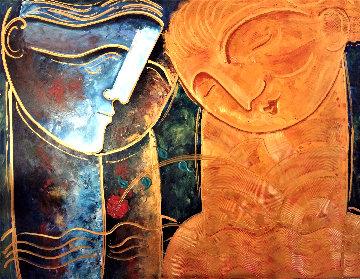 Rose 2019 48x60 Huge Original Painting - Gaylord Soli  (Gaylord)