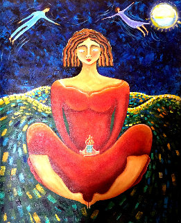Dreamer 2019 48x36 Original Painting by Gaylord Soli  (Gaylord)