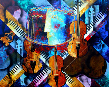 Maestro 51x63 Original Painting by Gaylord Soli  (Gaylord)