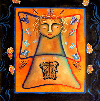 Butterfly 2003 39x39 Original Painting - Gaylord Soli  (Gaylord)