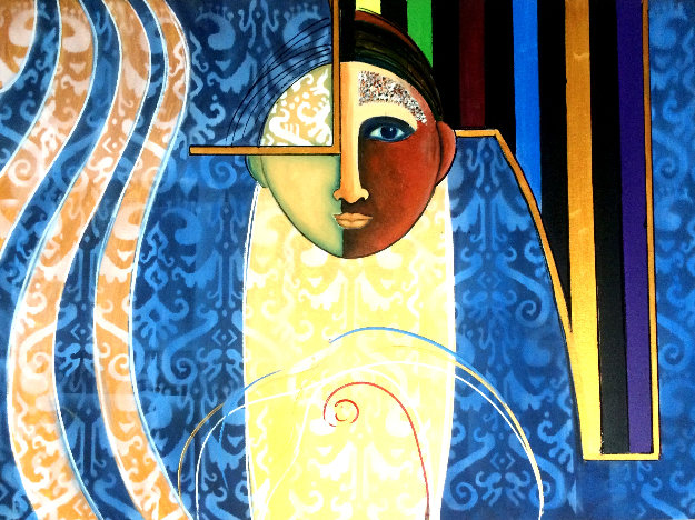 Eye to the Future 2019 30x40 Original Painting by Gaylord Soli  (Gaylord)