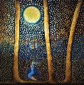 Mozart Moonlit Night 2019 48x48 Original Painting - Gaylord Soli  (Gaylord)