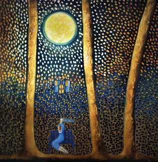 Mozart Moonlit Night 2019 48x48 Original Painting - Gaylord Soli  (Gaylord)