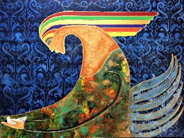 Pharaoh 2020 36x48 Original Painting - Gaylord Soli  (Gaylord)