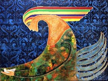 Pharaoh 2020 36x48 Huge Original Painting - Gaylord Soli  (Gaylord)
