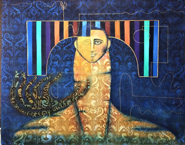 One With Vision 2019 48x60 Original Painting by Gaylord Soli  (Gaylord)
