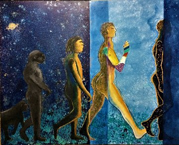 Unknown For Man 2020 40x50 Super Huge Original Painting - Gaylord Soli  (Gaylord)