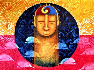 Meditation 2020 30x40 Original Painting - Gaylord Soli  (Gaylord)