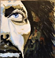 George Harrison 30x30 Original Painting by Gaylord Soli  (Gaylord) - 1