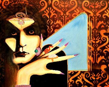 Gypsy 2020 24x30 Original Painting - Gaylord Soli  (Gaylord)