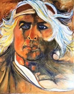 Brando 2020 30x24  Original Painting - Gaylord Soli  (Gaylord)