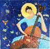 Cellist 2020 30x30 Original Painting by Gaylord Soli  (Gaylord) - 0