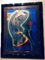 Rose 1992 Embellished Limited Edition Print by Gaylord Soli  (Gaylord) - 3