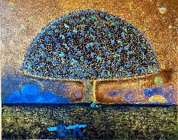 Umbrella Tree 2020 48x60 Huge Original Painting - Gaylord Soli  (Gaylord)