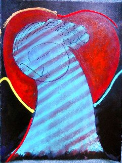 All Heart 2020 30x24 Original Painting - Gaylord Soli  (Gaylord)
