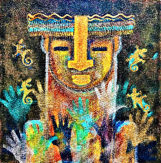 Amazonian 2021 36x36 Original Painting - Gaylord Soli  (Gaylord)