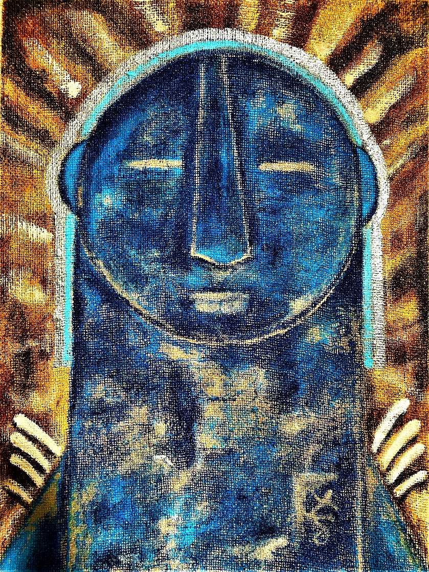 Mayan 2021 40x30 Super Huge Original Painting by Gaylord Soli  (Gaylord)