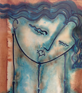 Woman's Head 2000 51x40 Huge Original Painting - Gaylord Soli  (Gaylord)