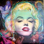 Marilyn Monroe 2012 Original Painting - Gaylord Soli  (Gaylord)