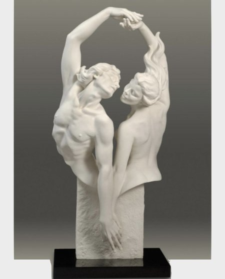 Dance of Passion Parian Sculpture 32 in Sculpture by Gaylord Ho