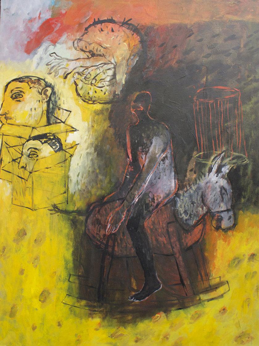 Journey 2014 48x36 Super Huge Original Painting by Geeth Kudaligamage