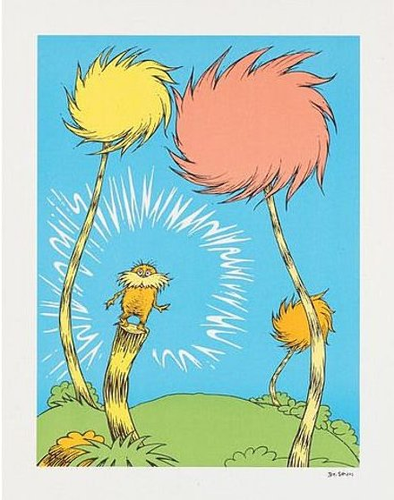 Lorax Book Cover Limited Edition Print by Dr. Seuss