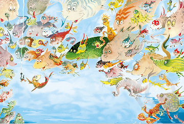A Plethora of Fish   Limited Edition Print - Dr. Seuss