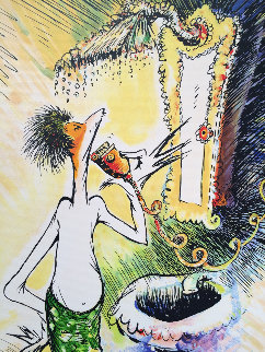 Self Portrait As a Young Man Shaving 1999 Limited Edition Print by Dr. Seuss