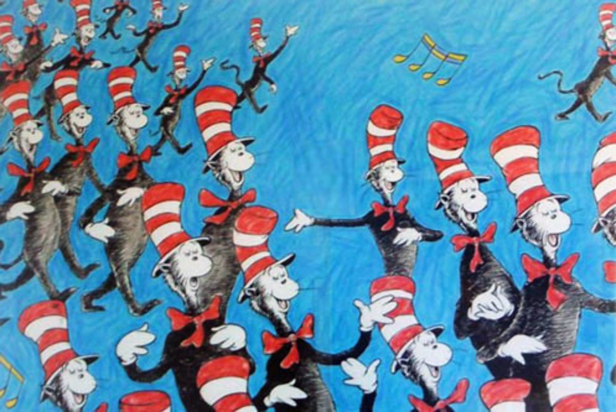 Singing Cats 1967 Limited Edition Print by Dr. Seuss