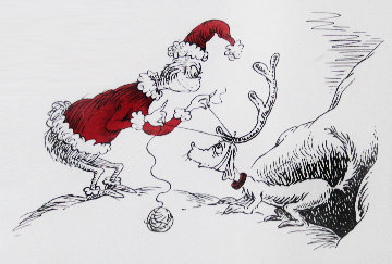 If I Can't Find a Reindeer, I'll Make One Instead! 1998 Limited Edition Print by Dr. Seuss