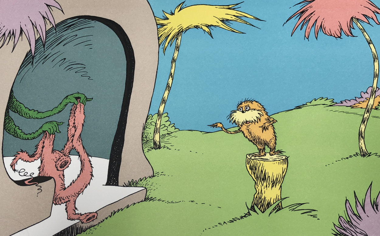 I Am the Lorax, I Speak For the Trees 1998 Limited Edition Print by Dr. Seuss