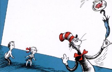 A Game I Call Up Up Up With a Fish 1997 Limited Edition Print by Dr. Seuss