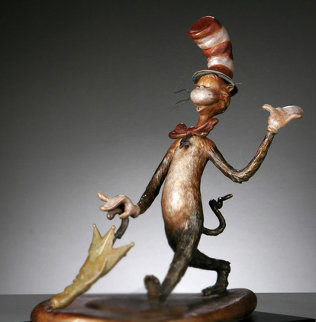 Cat in the Hat  Bronze Sculpture 2006 15 in Sculpture - Dr. Seuss