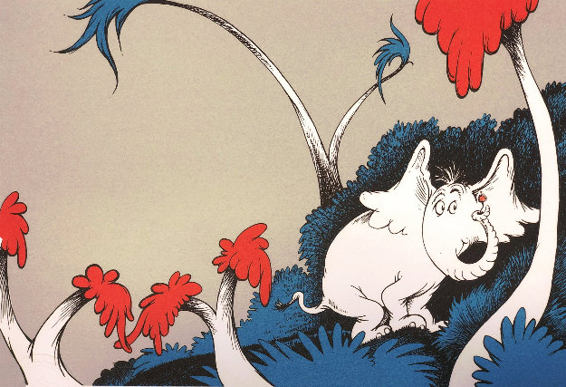 Speck Voice Was Talking Limited Edition Print by Dr. Seuss