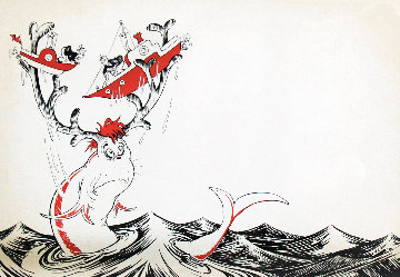 Secrets of the Deep (Book), With 2 Serigraphs: Sea Going Dilemna Fish, And Octopus 2010 Limited Edition Print - Dr. Seuss