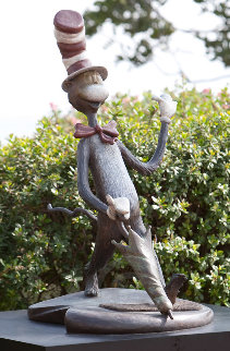 Cat in the Hat Bronze Sculpture Large Scale Edition 48 in - Super Huge Sculpture - Dr. Seuss