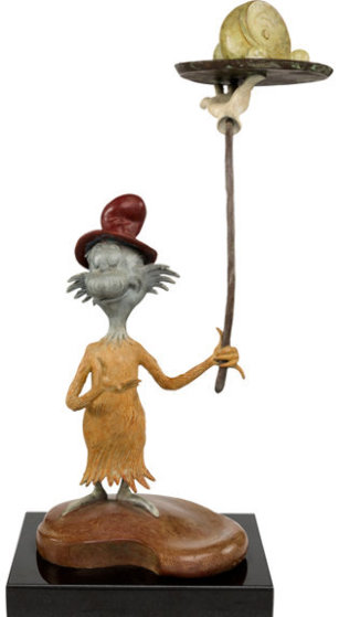 Green Eggs And Ham Bronze Maquette Sculpture 19 in by Dr. Seuss