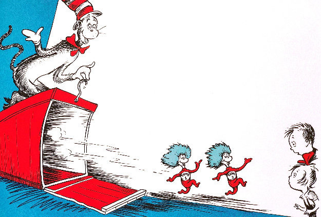 I Call Them Thing One and Thing Two 1997 Limited Edition Print by Dr. Seuss