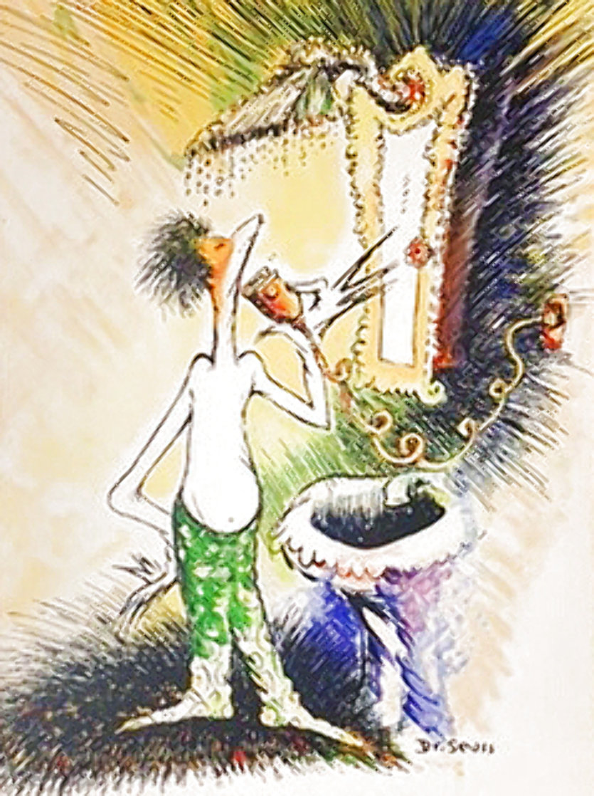 Self-portrait As a Young Man Shaving 1999 Limited Edition Print by Dr. Seuss