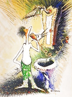 Self-portrait As a Young Man Shaving 1999 Limited Edition Print - Dr. Seuss