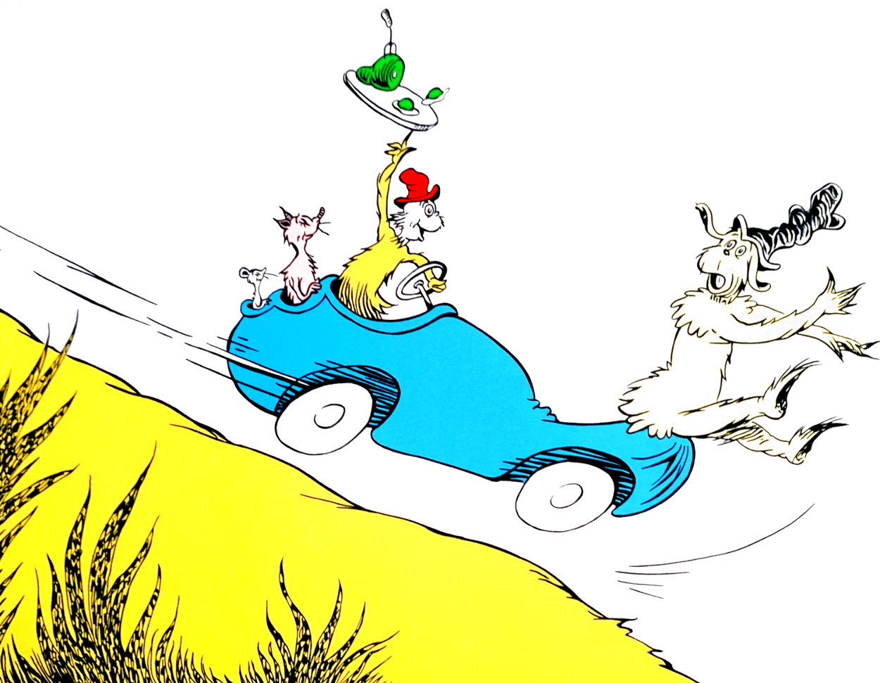 Would You? Could You? in a Car Limited Edition Print by Dr. Seuss