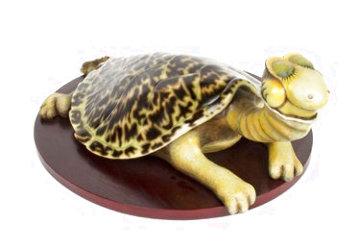 Turtle-Necked Sea Turtle Resin Sculpture 22 in Sculpture - Dr. Seuss