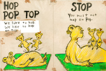 Hop Pop Top Diptych Limited Edition Print - Dr. Seuss