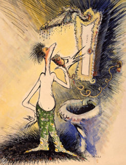 Self Portrait of a Young Man Shaving 1999 Limited Edition Print - Dr. Seuss