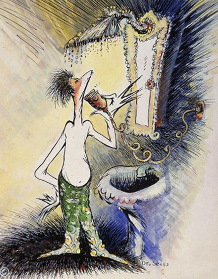 Self-Portrait of a Young Man Shaving 1999 Limited Edition Print by Dr. Seuss