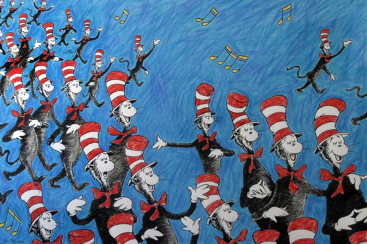Singing Cats 2002 Limited Edition Print by Dr. Seuss