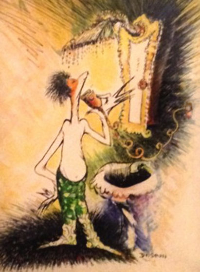 Self Portrait of a Young Man Shaving 1999 Limited Edition Print by Dr. Seuss