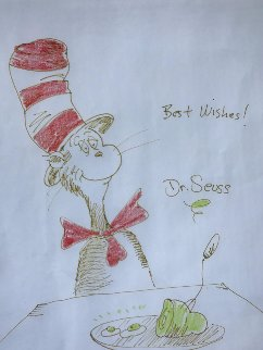 Cat in the Hat 1970 19x21 Works on Paper (not prints) by Dr. Seuss