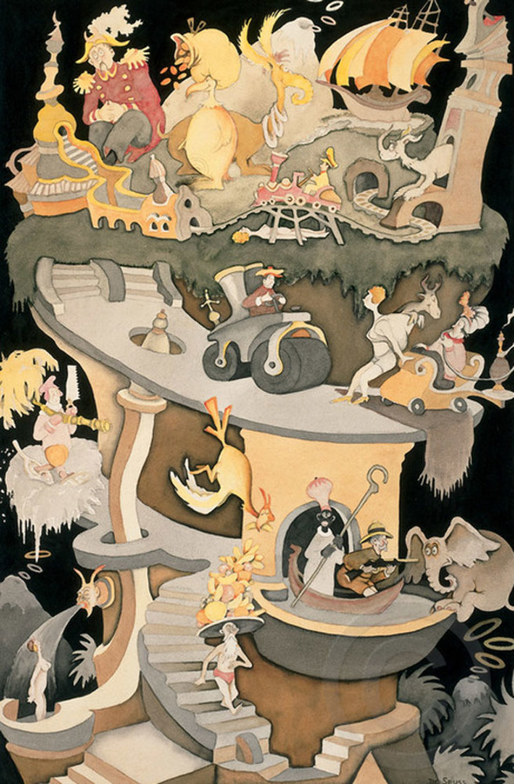 Tower of Babel CP 2002 Limited Edition Print by Dr. Seuss